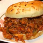 Turkey Sloppy Joes - Red pepper flakes give these tasty turkey sandwiches a little zip.