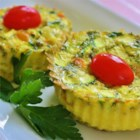 Muffin Pan Frittatas - Miniature frittatas are baked in a muffin tin creating perfect, individual egg dishes for brunch or on-the-go breakfast.