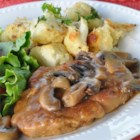 Pork Marsala - Herbed pork is tender and delicious simmered in a sweet Marsala wine and garlic sauce.  This is easy enough for a weeknight, and impressive enough for company.