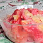 Apple Stuff - Strawberry gelatin is the thickening agent in this cobbler. This is a recipe my mom and I always bake and it is very good.