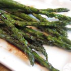 Roasted Asparagus with Balsamic Vinegar - A quick and robust way to enjoy asparagus. Roasting highlights the natural sweetness of the asparagus while the balsamic vinegar offers a tangy compliment to this great side dish.