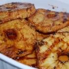 Barbequed Pineapple - Pineapple is marinated in sweetened, spiced rum, and grilled.