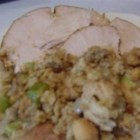 Sausage Stuffing - This stuffing has lots of flavor and is nice and moist. You can also change the ingredients to your liking.  I quadruple this recipe and make the extra in my electric roaster, that's how much everyone loves it. Originally submitted to ThanksgivingRecipe.com.