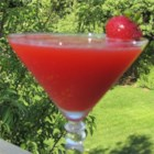Blended Strawberry Daiquiri - This is a simple recipe for a strawberry daiquiri blended with ice.