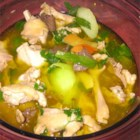 Chicken Binakol - Bone-in chicken simmers with chayote squash in young coconut juice, also known as coconut water, in this flavorful Filipino dish.