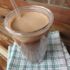 Chocolate-y Iced Mocha - Use coffee, almond milk, cocoa mix, and chocolate syrup to make your own iced mocha at home.