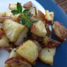 Kristen's Parmesan Roasted Potatoes - Parmesan and thyme flavor these golden brown, cubed potatoes!