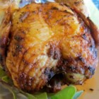 Drunken Chicken - This is a wild one: A whole chicken is smeared with Dijon mustard, then grilled over a can filled with beer and Italian dressing!
