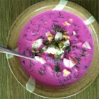 Cold Beet Soup - Lithuanian Saltibarsciai - This Lithuanian family recipe from the old country makes an awesome summer soup!
