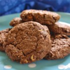Chocolate Peanut Butter Cookies - Old fashioned oats are finely ground in this decadent chocolate cookie with peanut butter chips.