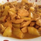 Adriel's Chinese Curry Chicken - A favorite chicken dish from the Chinese restaurant comes home in this quick but tasty version. Curry paste, coconut milk, ginger, and garlic flavor the sliced chicken breast meat and potatoes and give the dish its lovely yellow color. Serve over hot cooked jasmine rice.