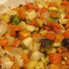 Seasoned Roasted Root Vegetables - Roasted root vegetables seasoned with thyme and rosemary are a colorful and hearty addition to the autumn dinner table.