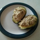 Tuna-Cado - Tuna mixed into an avocado half is the perfect meal for camping or a quick snack that will keep you satisfied.