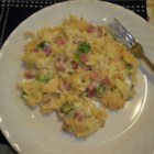 Ham and Noodle Casserole - Tender egg noodles, cubes of ham, and Swiss cheese give this creamy casserole plenty of flavor.