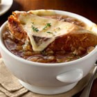 French Onion Soup from Birds Eye(R) - Like traditional French onion soup but ready in a fraction of the time, this soup is loaded with rich broth and onions, ladled into bowls, topped with thick slices of French bread and Swiss cheese, then broiled until cheese is bubbling.