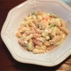 Smoked Salmon Pasta Salad - Multi colored fusilli pasta is dressed up with smoked salmon and lots of veggies.  Spice it up with a little cayenne pepper if you like.
