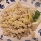 Baked Lemon-Basil Pasta - This baked pasta dish features lemon-pepper chicken, smothered in creamy lemon-basil pasta, and topped with cheese and spinach.