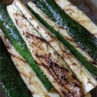 Balsamic Grilled Zucchini - Here's a simple, easy recipe for grilled zucchini with a touch of balsamic vinegar and spices.