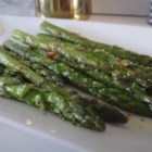 Roasted Asparagus with Parmesan - Roasted Parmesan asparagus seasoned with garlic powder is a quick and simple side dish.
