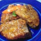 Lamb Chops in Duck Sauce - Lamb chops taste great when seasoned with a savory rub and baked in a coating of sweet and sour sauce.