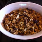 Crunchy Granola Breakfast Cereal - A deluxe version of crunchy oat granola is flavored with pumpkin and pecans and sweetened with agave syrup for a bowl of hearty goodness that will keep you going all morning.
