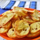 Crostini D'Emily - Tiny toasts to serve with a festive dip or baked garlic!