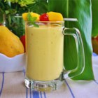 Easy Mango Banana Smoothie - Mangos and bananas are blended with milk and yogurt creating a quick and easy snack or breakfast.