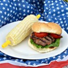 Cheddar Bacon Hamburgers with Horseradish - Horseradish adds a real zing to these quick and easy burgers. With Cheddar cheese and bacon bits mixed in, you may want to make a double batch.