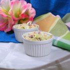Rick's Key West Pink Cole Slaw Dressing - A pale pink coleslaw dressing whips up in just minutes and is perfect to pour over a bowl of tri-colored coleslaw mix for a quick and colorful slaw.