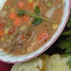 Kansas City Steak Soup - Sometimes you just need steak soup and this recipe yields a gallon of it. Really, a whole gallon. This is a roux-based soup made with round steak, tomatoes, carrots, and other vegetables. It freezes beautifully.