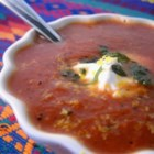 Gretchen's Tomato Orange Soup - Gretchen Allison took her favorite childhood tomato soup recipe and brought it to new levels by adding roasted poblano chiles, fresh vegetables, and the brightness of orange zest to balance the flavors.