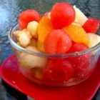 Juicy Fruit Salad - Pineapple, apple, orange, banana and grapes unite in this juicy and delicious fruit salad!