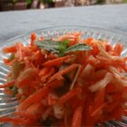 Shredded Apple Carrot Salad - This apple carrot salad recipe is a quick and colorful side dish perfect for summer picnics.
