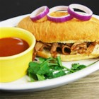 HERDEZ(R) Drowned Beef Sandwich with Chipotle Sauce (Torta Ahogada) - Served with a spicy beef broth for dipping, these roast beef sandwiches on crusty rolls--a variation on a traditional Mexican 'drowned sandwich'--make a hearty lunch or quick dinner.