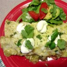 HERDEZ(R) Turkey and Zucchini Enchiladas with Tomatillo Verde Sauce - A delicious healthy twist on enchiladas. Beef is replaced with ground turkey and zucchini is used in the filling without sacrificing any flavor. The addition of HERDEZ(R) Tomatillo Verde Mexican Cooking Sauce makes this dish easy and takes the flavor over the edge. Your family will never know they are eating healthy!
