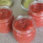 Rhubarb Jam - A rhubarb lover's delight! Rhubarb jam, pure and simple, with the consistency of apple butter. This jam also freezes well, but it will probably get eaten up before making it to the freezer! Fabulous!