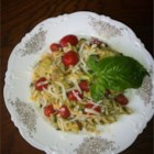 Fabulous Pesto Pasta Salad - This chilled pasta salad is perfect as a side dish or a main course.  Serve with warm garlic bread and the perfect wine!