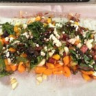 Roasted Swiss Chard with Feta - Rainbow Swiss chard is tossed with olive oil and roasted in the oven sprinkled with feta cheese in this hearty side dish.