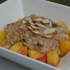 Steel-Cut Oatmeal - Steel-cut oatmeal is bulked up and flavored with the addition of dried cranberries, cashews, coconut, vanilla, and cinnamon.