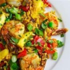 Thai Fried Rice with Pineapple and Chicken - This fried rice recipe with pineapple, chicken, and prawns is inspired by Thai street food and is a quick lunch or dinner.