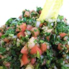 Authentic Tabbouleh - This is an authentic tabbouleh with fine bulgur wheat, parsley, mint, tomatoes, and a homemade dressing.