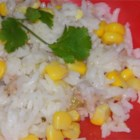 Rice Salad with Tuna - This easy and delicious salad of white rice, light tuna, corn, and pickle relish is great for lunch or an afternoon snack. It makes also a great party dish.