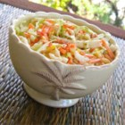 Original Old Bay(R) Coleslaw - The original slaw as it appeared on the can of seafood seasoning has cabbage, green peppers, and carrots, mixed with a sweet and tangy mayonnaise dressing.