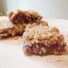 Raspberry Mazurkas - Enlist the children in the house to help make these quick raspberry-filled bar cookies.