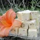 White Chocolate Fudge with Pecans - Cream cheese makes a rich and creamy base for this white chocolate fudge.