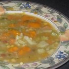 Kitchen Sink Soup - Everything but the kitchen sink . . . well, almost, with this recipe.  Green beans, yellow wax beans, navy beans, chickpeas, and lots of vegetables (the recipe inspires, the contents of your refrigerator dictate) come together for this hearty soup.