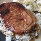 Chinese Pork Chops - This is a great and easy way to add flavor to pork chops, and it is always a hit at family gatherings. Just take a few minutes to make the marinade and let it sit for several hours. If cooking in the oven, set at 350 degrees F and cook for 30 minutes, or until done.