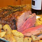 Easy Leg of Lamb - Like lamb? Garlic? Rosemary? Easy? We have a recipe for you!