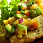Peach Avocado Salsa - Fresh peaches with creamy avocado, bell pepper, onions, and jalapeno make a great summertime salsa.