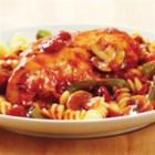 KRAFT RECIPE MAKERS Chicken Cacciatore - Lemon- and oregano-seasoned chicken and veggies are slow cooked with a tomato and herb sauce and served over pasta.